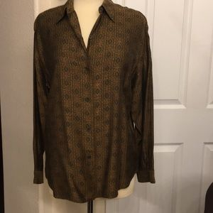 Burberry Shirt Blouse Multicolored Size 12